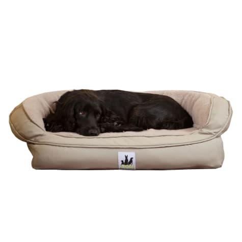 3 Dog Personalized EZ Wash Fleece Bolster Silver Dog Bed