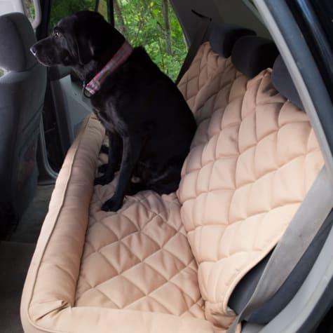 3 Dog No Slip Bolster Tan Seat Protector