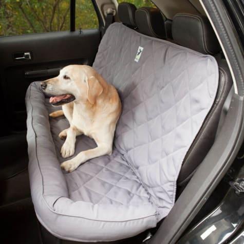 3 Dog No Slip Bolster Grey Seat Protector