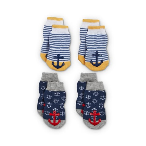 Bond & Co. Cozy Sailor Nautical Dog Socks