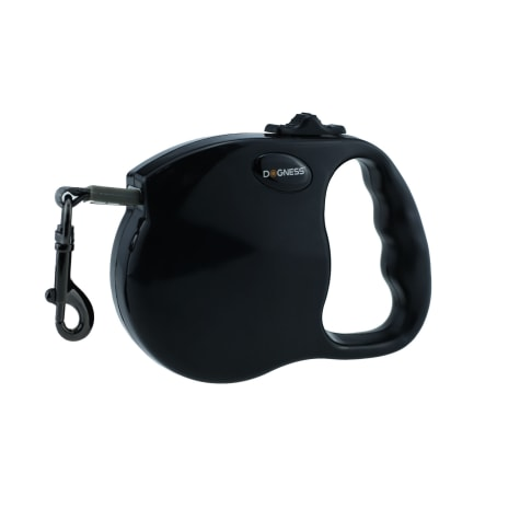 Dogness Fashion Retractable Black Lead