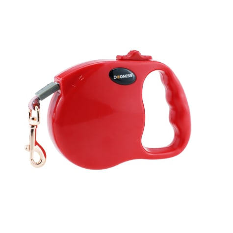 Dogness Fashion Retractable Red Lead