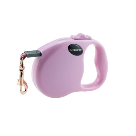 Dogness Fashion Retractable Pink Leash