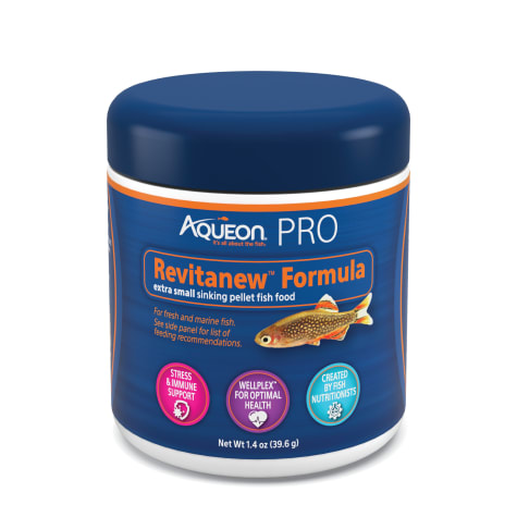 Aqueon Pro Revitanew Fish Food Small Pellet