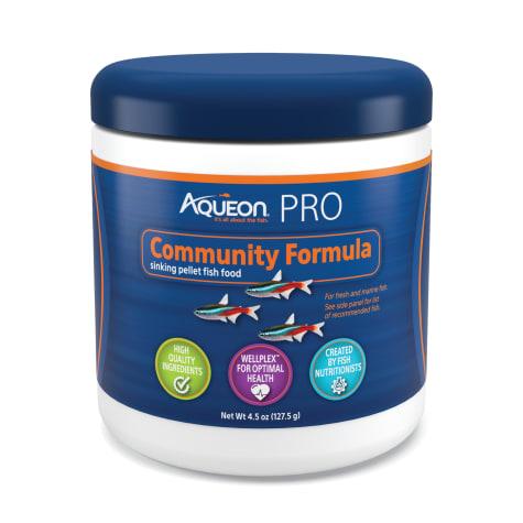 Aqueon Pro Community Formula Fish Food Pellet
