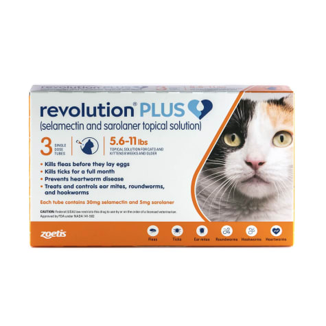 Revolution Plus Topical Solution 5.6-11lbs Cat