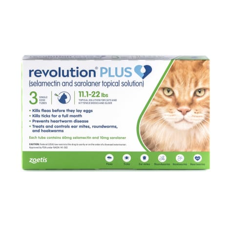Revolution Plus Topical Solution 11.1-22lbs Cat