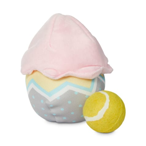 Bond & Co. Easter Egg Plush Dog Toy with Tennis Ball