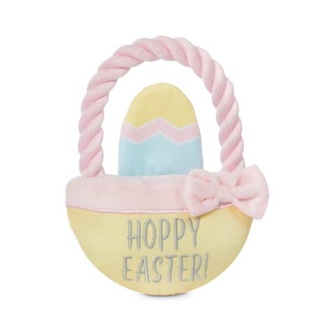 Bond & Co. Easter Egg Basket Plush & Rope Dog Toy
