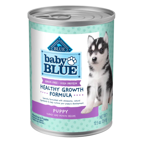 Blue Buffalo Baby Blue Grain Free High Protein Natural Turkey and Potato Wet Puppy Food