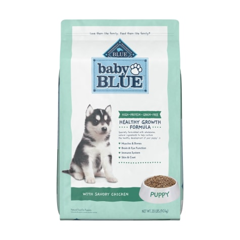 Blue Buffalo Baby Blue Grain Free High Protein Natural Chicken and Pea Recipe Dry Puppy Food