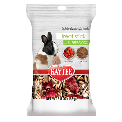 Kaytee Food from the Wild Treat Stick with Superfoods Strawberry & Flax Seed