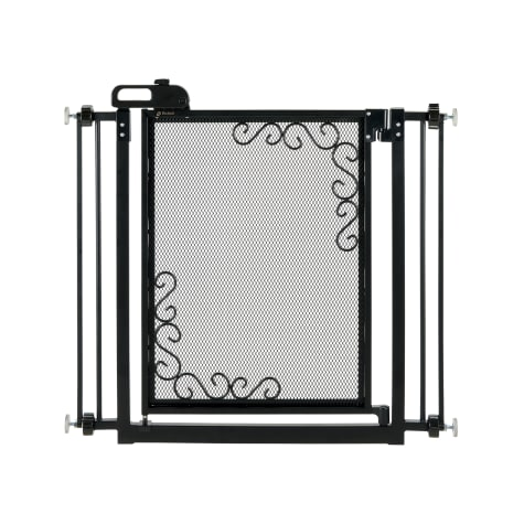 Richell One-Touch Metal Mesh Black Pet Gate