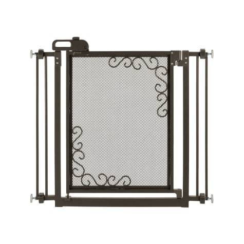 Richell One-Touch Metal Mesh Gray Gate for Dogs
