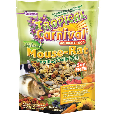 Brown's Tropical Carnival Natural Mouse & Rat Fortified Daily Diet Food