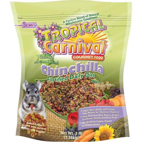 Brown's Tropical Carnival Natural Chinchilla Fortified Daily Diet Food
