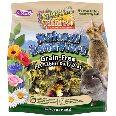 Brown's Tropical Carnival Natural Behaviors Grain-Free Pet Rabbit Daily Diet Food