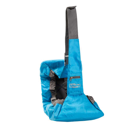 Outward Hound PoochPouch Blue Sling Carrier for Dogs