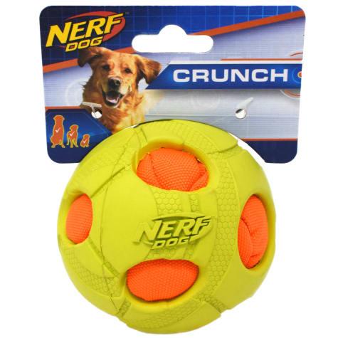Nerf Green Bash Crunch Ball Dog Toy