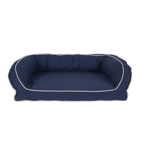 Carolina Pet Company Orthopedic Classic Canvas Bolster Dog Bed in Blue