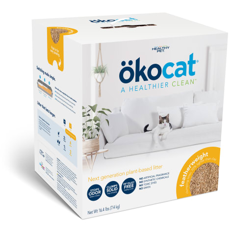 Okocat Unscented Featherwieght Clumping Wood Cat Litter