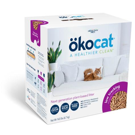 Okocat Low Tracking Clumping Mini-Pellets Wood Cat Litter