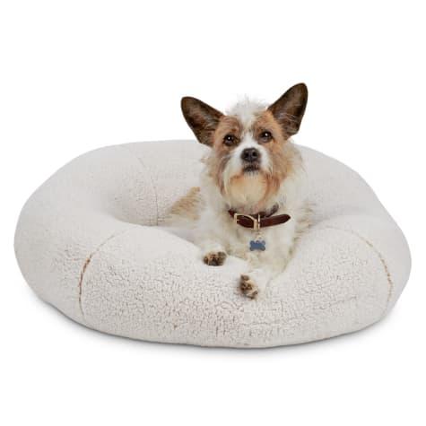Harmony Cream Snuggle Ball Dog Bed