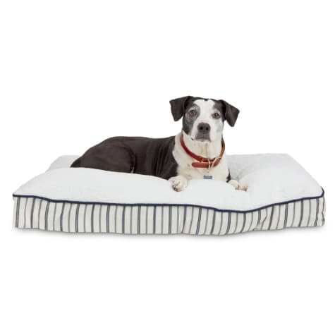 Harmony Blue Nautical Striped Lounger Dog Bed
