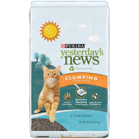 Purina Yesterday's News Clean Scent Clumping Paper Lightweight Multi Cat Litter