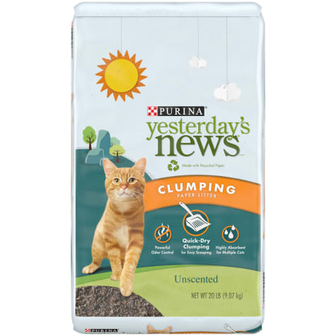 Purina Yesterday's News Unscented Clumping Paper Lightweight Multi Cat Litter