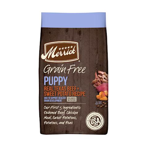 Merrick Grain Free Beef + Sweet Potato Recipe Dry Puppy Food