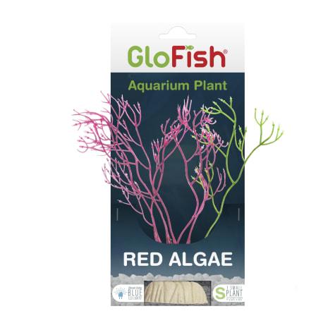 GloFish Red Algae Plant Fluorescent Under Blue LED Light Aquarium Decor