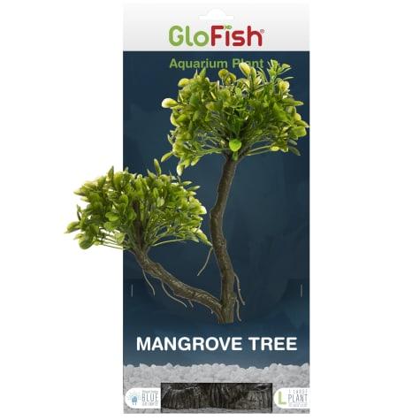 GloFish Mangrove Green Tree Plant Fluorescent Under Blue LED Light Aquarium Decor