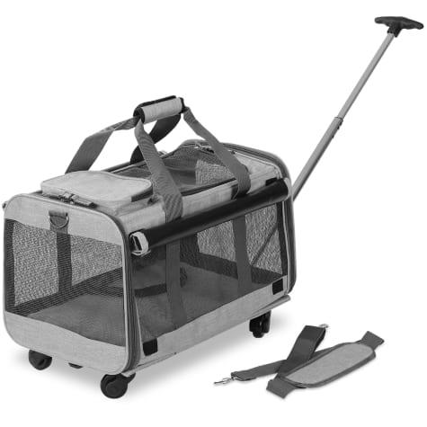 Kopeks Gray Pet Carrier with Detachable Wheels