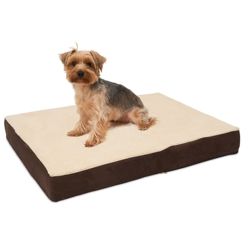 Kopeks Rectangular Orthopedic Memory Foam Brown Dog Bed