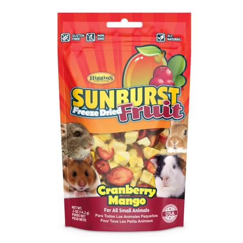 Higgins Sunburst Freeze Fried Fruit Cranberry Mango Small Animal Treat