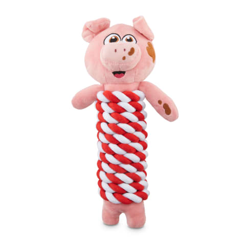 Bond & Co. County Fair Classics Get Piggy with It Pig Rope-Wrapped Plush Dog Toy