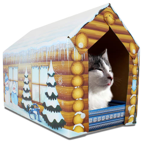 American Cat Club Winter Cat House Scratcher
