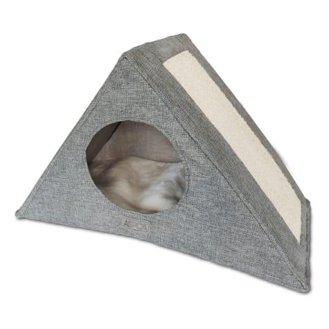 ASPCA Foldable Gray Cat Tree Condo And Hammock Lounger