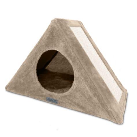 ASPCA Foldable Tan Cat Tree Condo And Hammock Lounger