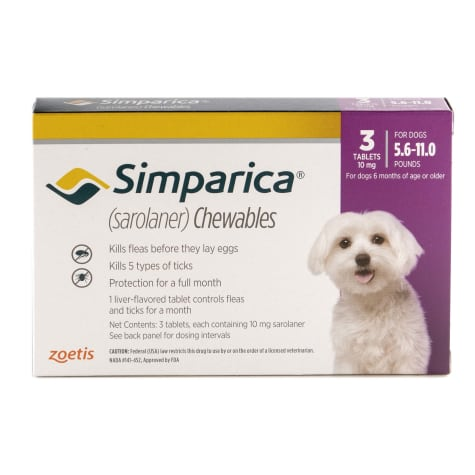 Simparica Chewable for Dogs 5.6-11 lbs.