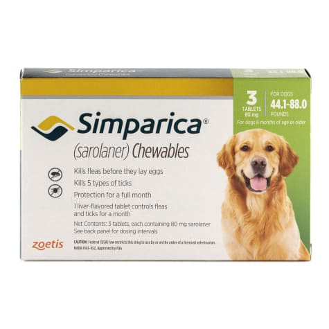 Simparica Chewable for Dogs 44.1-88 lbs.