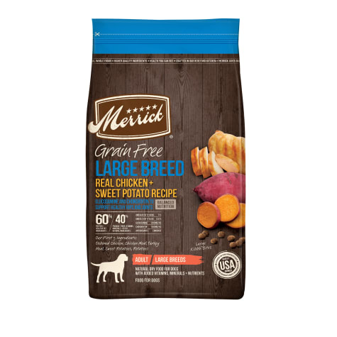 Merrick Grain Free Real Chicken & Sweet Potato Recipe Large Breed Dry Dog Food