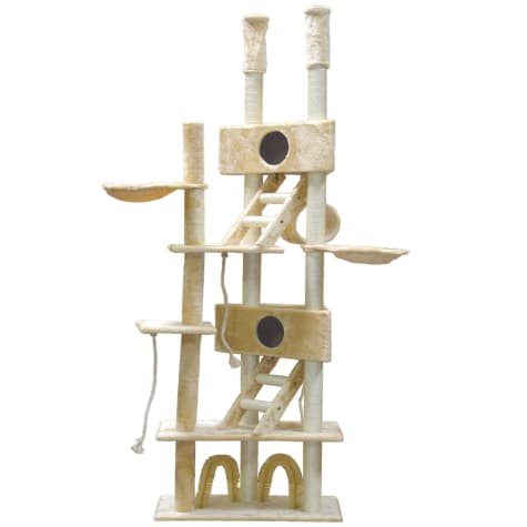 Go Pet Club Cat Tree with Large Houses and Brushes
