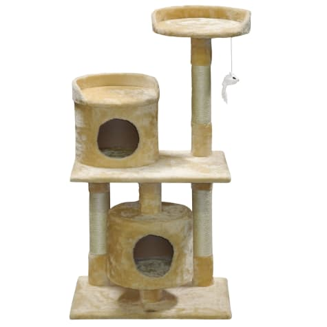 Go Pet Club Beige Cat Tree House with Sisal Covered Posts F78