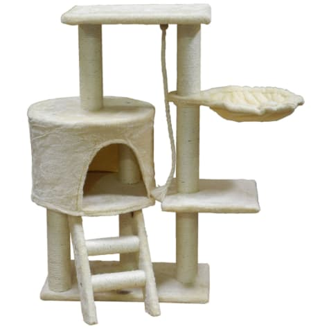 Go Pet Club Beige Cat Tree Condo with Sisal Covered Posts F38