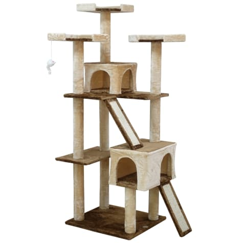 Go Pet Club Kitten Tree House with Sisal Scratching Board