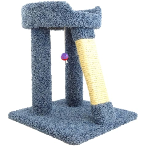 New Cat Condos 1 Level Premier Blue Elevated Cat Bed