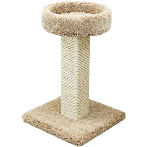 Prestige Cat Trees 1 Level Solid Wood Tan Cat Scratching Post and Sleeper