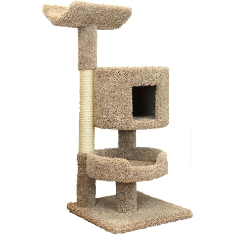 New Cat Condos 3 Level Compact Brown Cat Tree